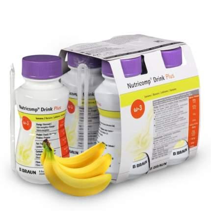 Смесь BBraun для энтерального питания, 200 мл Нутрикомп Дринк Плюс, банановый