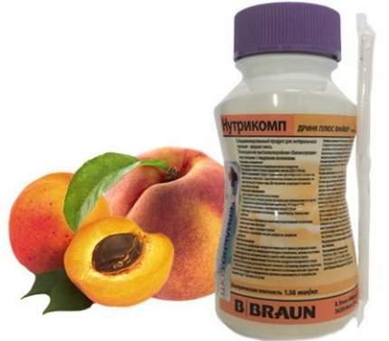 Смесь BBraun для энтерального питания, 200 мл Нутрикомп Дринк Плюс Файбер, персик-абрикос