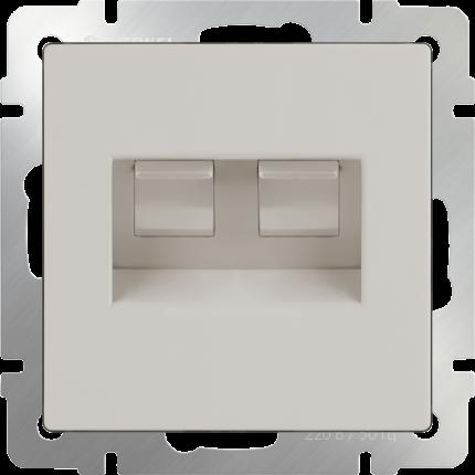 Компьютерная розетка Werkel Ethernet RJ-45 WL03-RJ45+RJ45 a033766 слоновая кость