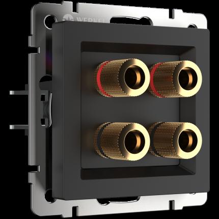 Аудио розетка Werkel акустическая WL08-AUDIOx4 a030818 черный