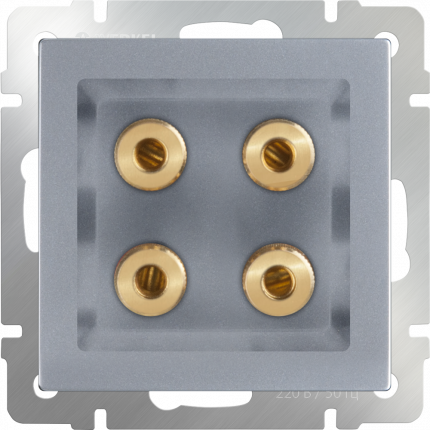 Аудио розетка Werkel акустическая WL06-AUDIOx4 a030816 cеребряный