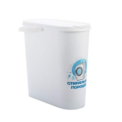 Емкость д/стирального порошка 6 л с крыш. (белый)