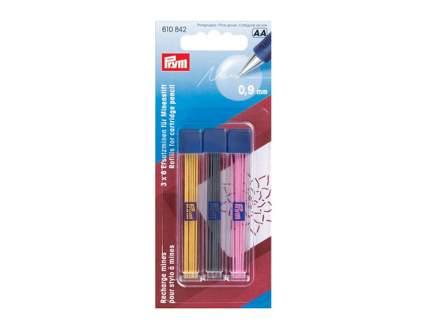 Запасные графиты для механического карандаша PRYM, 0.9 мм, желтый/черный/розовый 610842