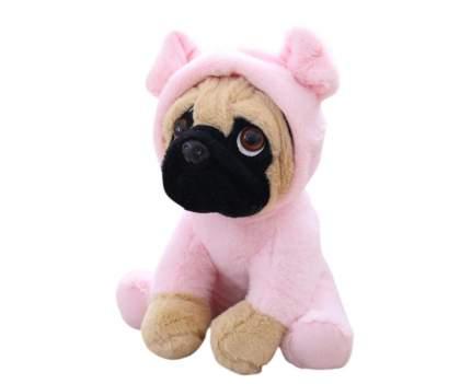 Мягкая игрушка Мопс в розовом костюме