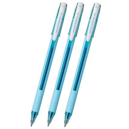Ручка шариковая Uni Jetstream SX-101FL синяя, бирюзовый корпус 0,7мм 3 штуки PPS