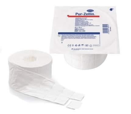 Тампоны-подушечки Pur-zellin steril из крепированной бумаги 4 х 5 см 1 х 500 шт.