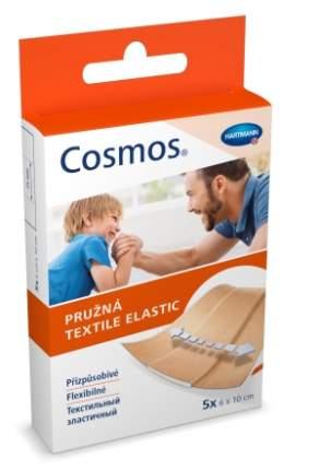 Пластырь Cosmos Textile Elastic Hartmann текстильные полоски цвета кожи 6 х 10 см 5 шт.