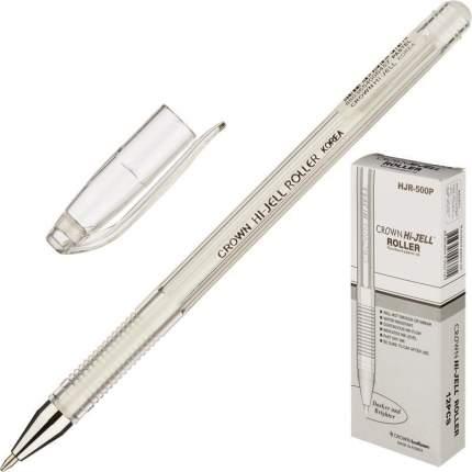 Ручка гелевая пастель белая CROWN, 0,7мм