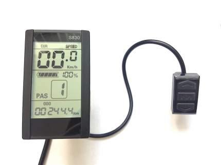 """Панель управления LCD экран 4"""" модель T2 вертикаль с USB, S830 для электровелосипеда"""