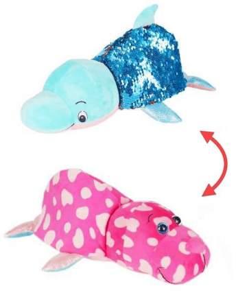 Мягкая игрушка 1 TOY Т15590 Вывернушка Блеск Дельфин-Морж, 30 см