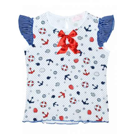 Трикотажная блузка Bon&Bon с морским принтом, р. 134