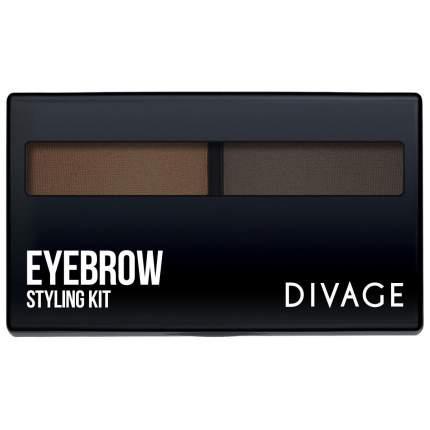 Тени для бровей Divage Eyebrow Styling тон 02