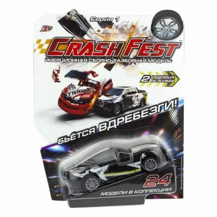 Машинка инерционная 1 TOY Т17090-7 CrashFest Black Star, 10 см