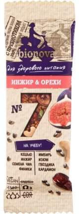 Батончик Bionova для здорового питания №7 инжир и орехи 35 г