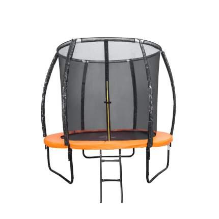 Батут DFC Trampoline Kengoo II с сеткой и лестницей 152 см, оранжевый