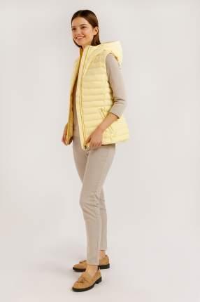 Утепленный жилет женский Finn Flare B20-12079 желтый XXL