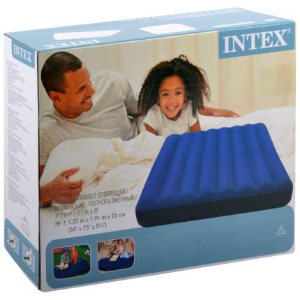 Надувной матрас Intex 68758 Classic Downy 191 х 137 х 22 см