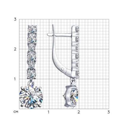 Серьги SOKOLOV из серебра с фианитами 94022529