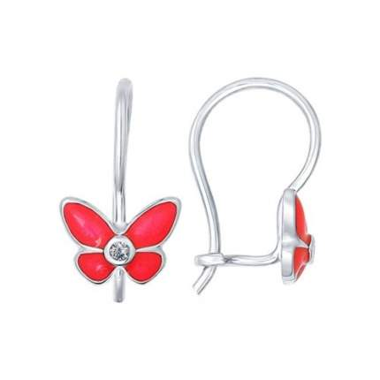 Детские серьги «Бабочки» SOKOLOV из серебра