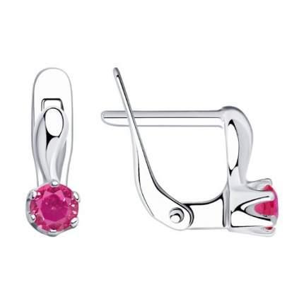 Серьги SOKOLOV из серебра с розовыми фианитами 94020451