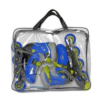 Роликовые коньки детские Moby kids 26-29 Р сине-зеленые 641003