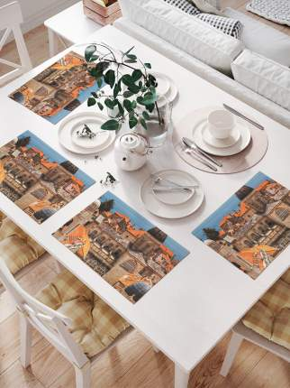 JoyArty Комплект салфеток для сервировки стола «Гордость архитектора» (32х46 см, 4 шт.)