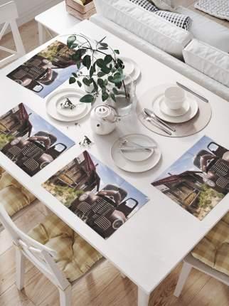 JoyArty Комплект салфеток для сервировки стола «Брошенное авто» (32х46 см, 4 шт.)