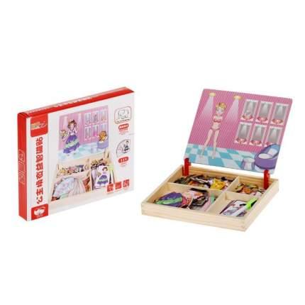 """Конструктор магнитный """"Принцесса"""": карточки, маркер, магнитные элементы Sima-Land"""