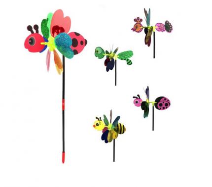 Вертушка на цветочке, голограмма, 38 см 635960