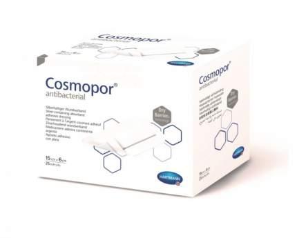 Повязка Cosmopor Antibacterial послеоперационная самоклеящаяся с серебром 15 х 6 см 25 шт.