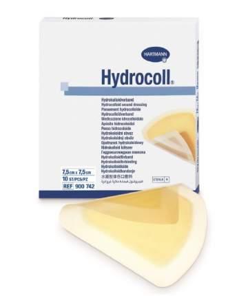 Повязка Hydrocoll гидроколлоидная самофиксирующаяся для заживления 7,5х7,5 см 10 шт.
