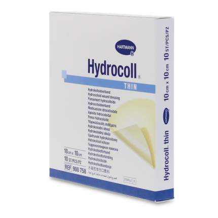 Повязка Hydrocoll thin гидроколлоидная самофиксирующаяся для заживления 10х10 см 10 шт.
