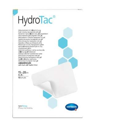 Повязка HydroTac ГидроТак губчатая с гидрогелевым покрытием 15х20 см 10 шт. 685843