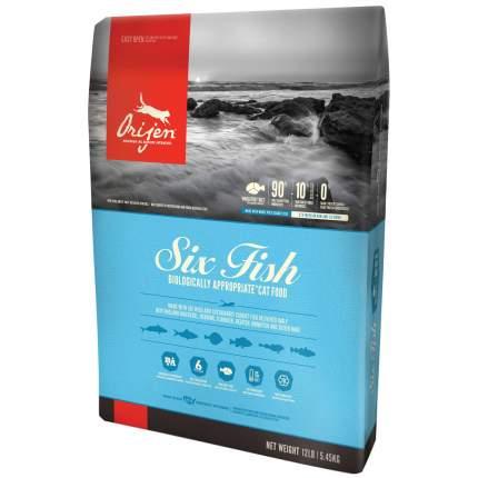 Сухой корм для кошек Orijen Six Fish, 6 видов рыбы, 5,4кг