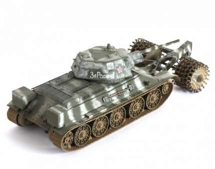 Модели для сборки Zvezda Советский средний танк с минным тралом Т-34/76