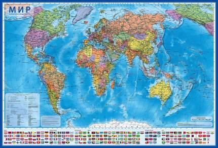 Карта Globen интерактивная НК041 Мир Политический 1:32 (с ламинацией в тубусе)