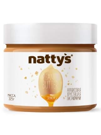 Арахисовая паста Nattys Crunchy с кусочками арахиса 325 г