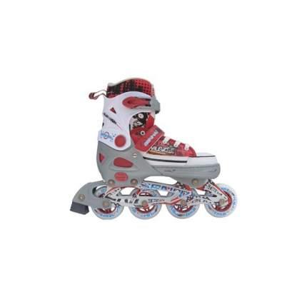 Раздвижные роликовые коньки Trans Roller серо-красные, размер L (40-43)