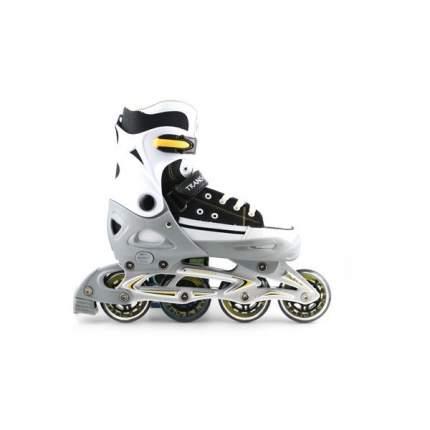 Раздвижные роликовые коньки Trans Roller серо-черные, размер L (40-43)