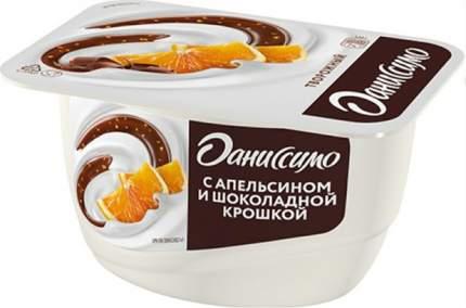 Творожок Даниссимо с апельсином и шоколадной крошкой 5,8% БЗМЖ 130 г
