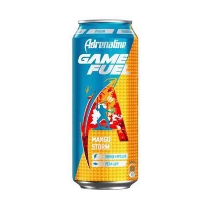 Напиток энергетический Adrenaline Game Fuel манго газированный безалкогольный 0,449 л