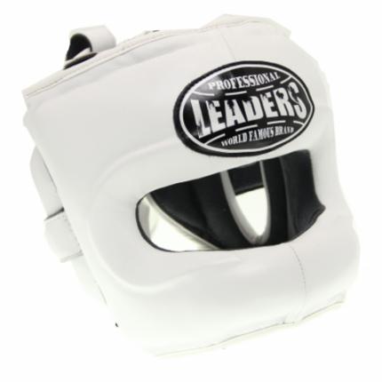 Шлем боксерский LEADERS LS WH с бамперной защитой S/M