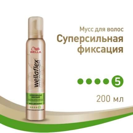 Мусс для волос Wella Wellaflex Суперсильная фиксация 200 мл