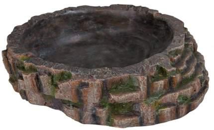 Кормушка для рептилий TRIXIE, коричневая, 35 x 34 х 9 см