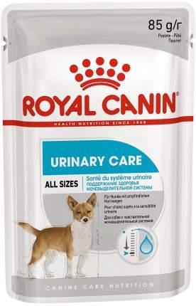 Влажный корм для собак ROYAL CANIN Urinary Care, паштет, 12шт по 85г
