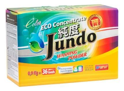 Экологичный концентрированный порошок для цветного белья Jundo сolor 36 стирок 900 г