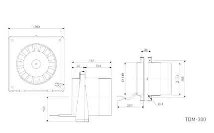 Канальный вентилятор Soler & Palau TDM 300 (белый) 03-0101-413