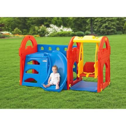 Детский игровой комплекс для дома и улицы Haenim Toy HN-709 Маленький замок горка, качели