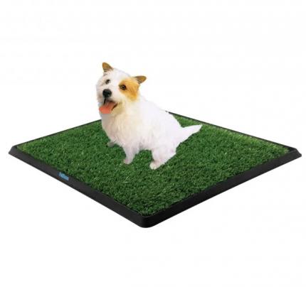 Туалет для собак Pet Park Pet Zoom с искусственной травой, черный, 63х51х6 см
