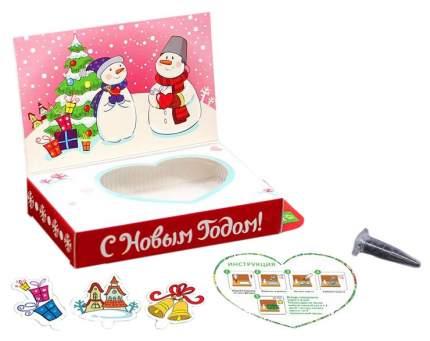 Набор для выращивания Happy Plant Снеговик - Любви в Новом году! hps-227 базилик, горчица